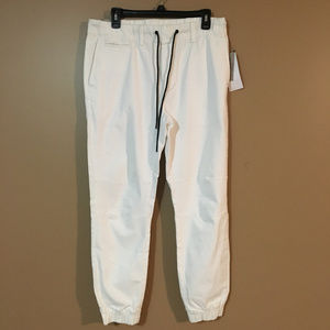 Reaction Kenneth Cole White Jeans Joggers Pants M
